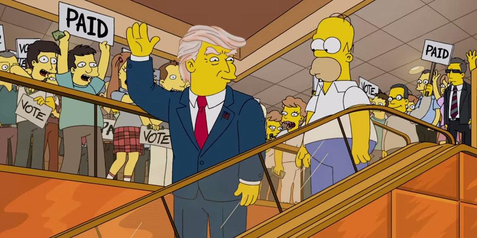 Los Simpson dedica episodio a los 100 días de Trump