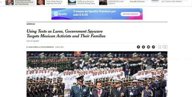Gobierno de México espía a periodistas y defensores de derechos humanos
