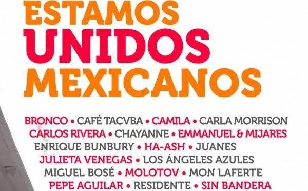 """""""Estamos Unidos Mexicanos"""", música con causa el próximo 8 de octubre en la CdMx"""