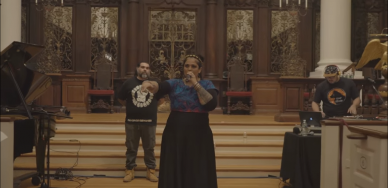 "El hip-hop de Audry Funk se hizo escuchar en ""A Day Of Hope & Resistence"""
