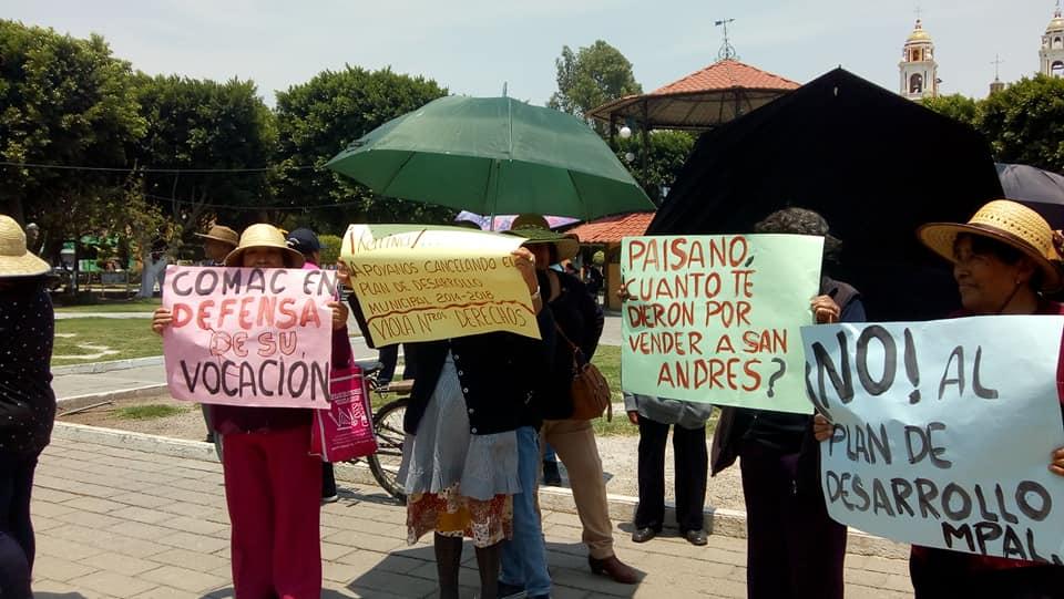 Exigen cancelar Programa de Desarrollo Urbano en San Andrés Cholula
