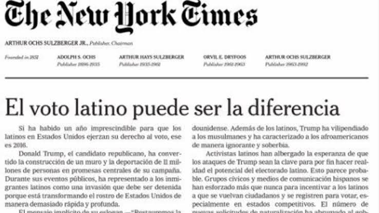 The New York Times en español desaparece