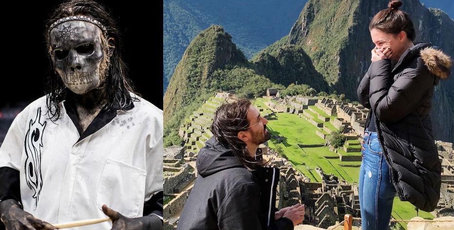 Baterista de Slipknot pide matrimonio en Machu Picchu