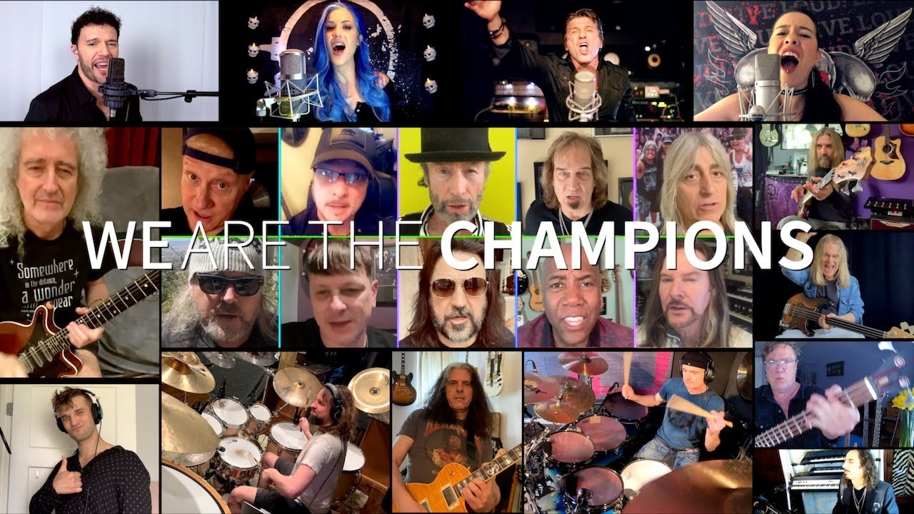 "Bryan May, Alissa White-Gluz y varios músicos graban ""You Are The Champions"""