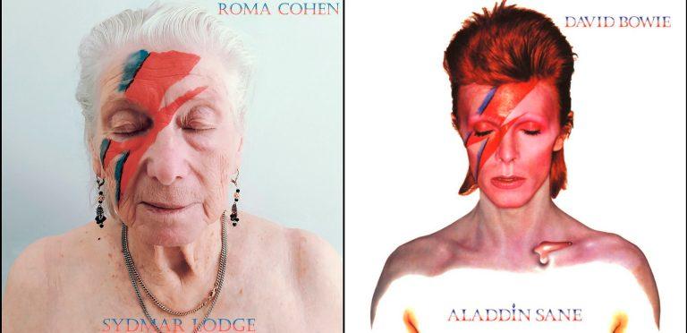 En una residencia de ancianos recrearon portadas de discos