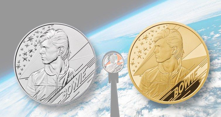 Lanzan moneda de David Bowie al espacio