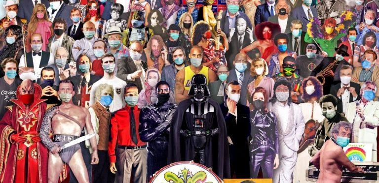 El artista británico Chris Barker, reveló su edición 2020 del Sgt. Pepper's Anual, trabajo inspirado en la portada del álbum de The Beatles: Sgt. Pepper's Lonely Heart Club Band, que rinde homenaje a las figuras públicas que han muerto durante el año.